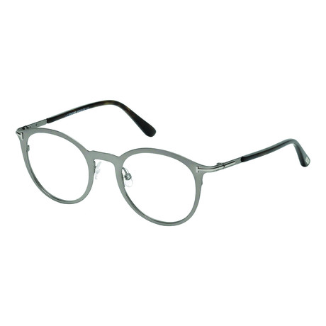 Men's Flat Round Metal Optical Frames // Silver