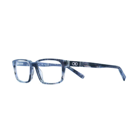 Salvatore Ferragamo // Men's Rectangle Optical Frames // Marble Gray