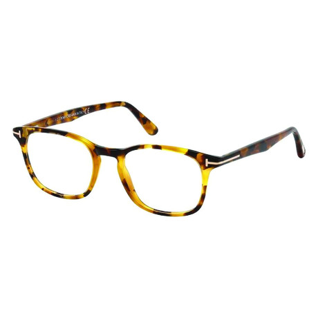 Men's Rectangle Tortoise Acetate Optical Frames // Tortoise