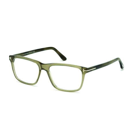 Men's Gray Acetate Rectangle Optical Frames // Dark Green