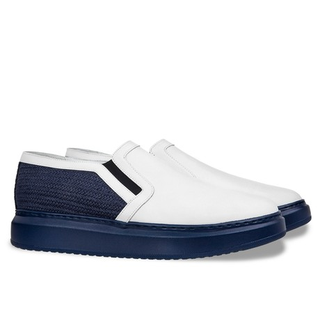 Israel Slip-On // White + Blue (US: 7)