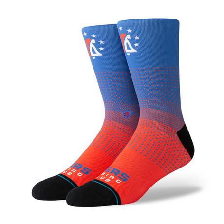 76ers GC 2K Socks // Blue (S)