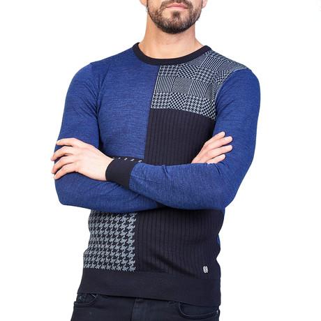 Cain Wool Sweater // Indigo (XS)