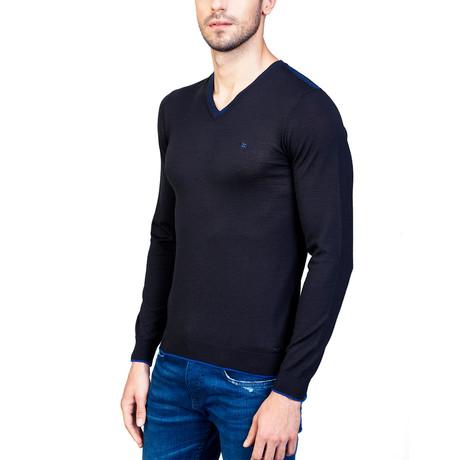 Asher Wool Sweater // Black (XS)