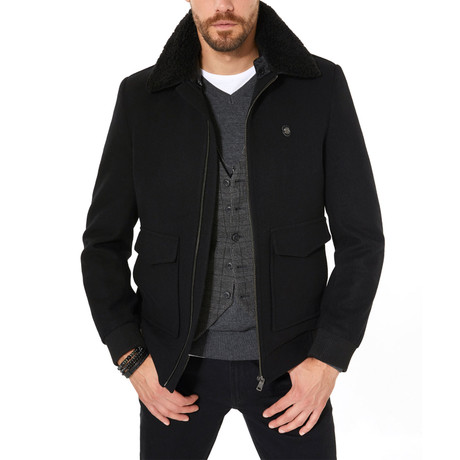 Abe Wool Coat // Black (XS)