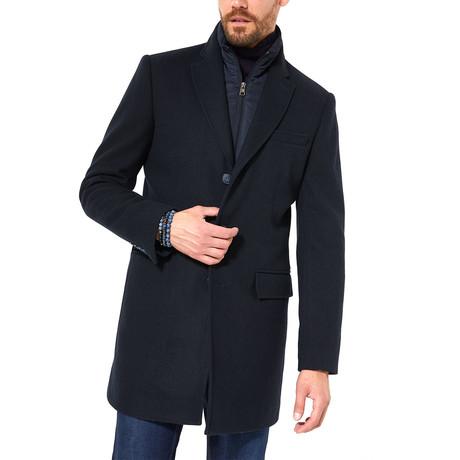 David Wool Coat // Navy Blue (XS)