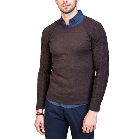 Forrest Wool Sweater // Brown (XS)
