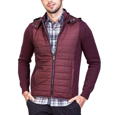 Kyle Wool Coat // Bordeaux (XS)