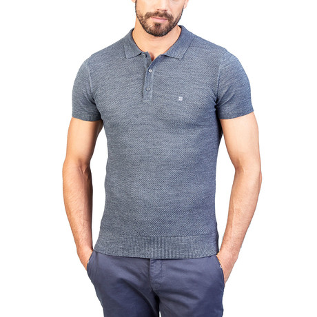 Dennis Wool Short Sleeve Shirt // Gray (XS)