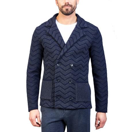 Cale Wool Cardigan // Navy Blue (Euro: 44)