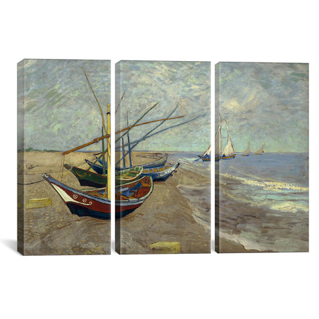Fishing Boats on the Beach at les Saintes Maries de la Mer // Vincent van Gogh