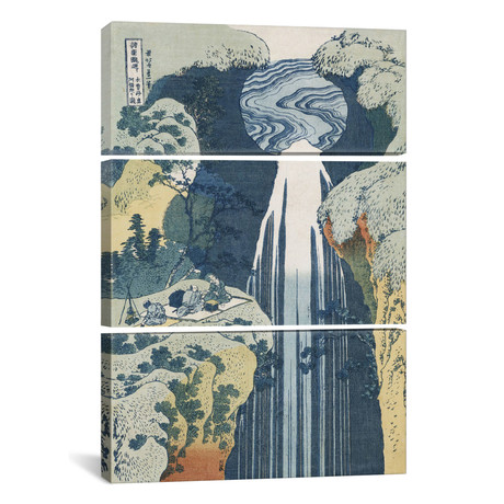 Amida Waterfall on the Kiso Highway, from the series `A Jour // Katsushika Hokusai