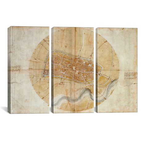 Map of Imola, 1502 // Leonardo da Vinci