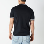 Versace Collection // Polo Shirt // Black + Gray (XS)