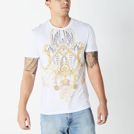 Versace Collection // Hamsa T-Shirt // White (XS)