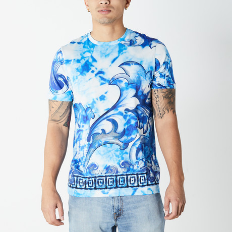 Versace Collection // Toe-Dye T-Shirt // Blue (XS)