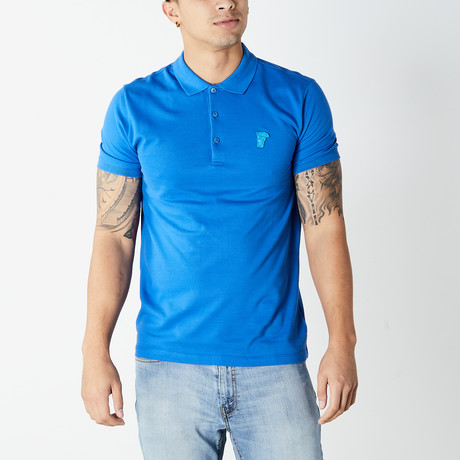 Versace Collection // Polo Shirt // Blue (XS)