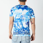 Versace Collection // Tie-Dye T-Shirt // Blue (XL)