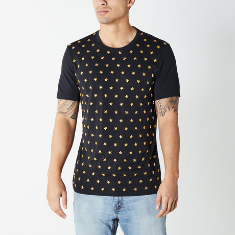 Versace Collection // Star T-Shirt // Black + Gold (XS)