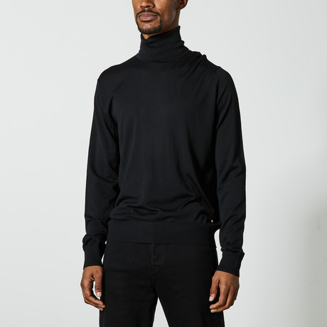 Versace // Turtleneck Sweater // Black (XS)