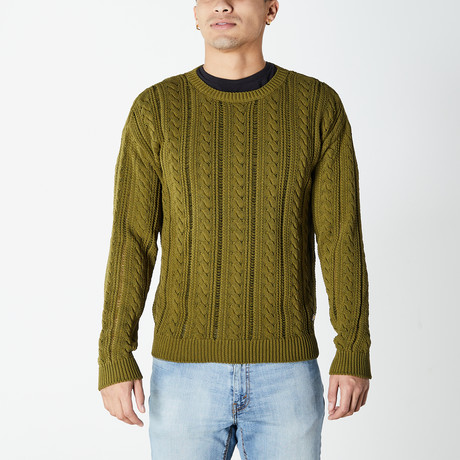 Versace // Cable Knit Sweater // Green (XS)