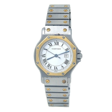 Cartier Santos Octagon Automatic // 2966 // Pre-Owned