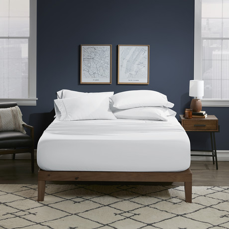 Ultra Soft 6 Piece Bed Sheet Set // Bright White (Twin)