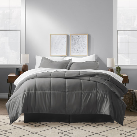 Premium 8 Piece Bed In A Bag // Charcoal (Twin)