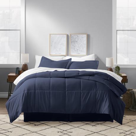 Premium 8 Piece Bed In A Bag // Indigo (Twin)