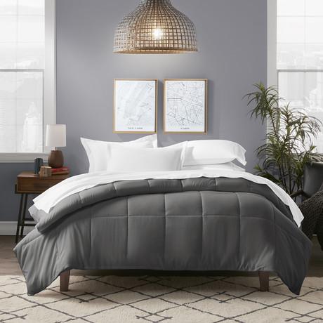 All Season Premium Down Alternative Comforter // Charcoal (Twin / Twin Extra Long)