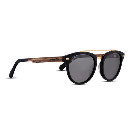 Captain Polarized Sunglasses (Matte Black + Smoke)