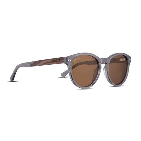 Latitude Polarized Sunglasses (Liquid Smoke + Brown)