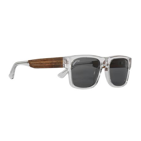 Arrow Polarized Sunglasses (Crystal Clear + Smoke)