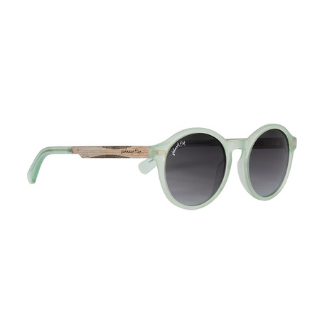 UFO Polarized Sunglasses // Mint + Smoke Gradient