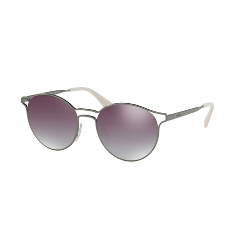 Prada // Women's Sunglasses // Gunmetal + Gradient Gray Mirror