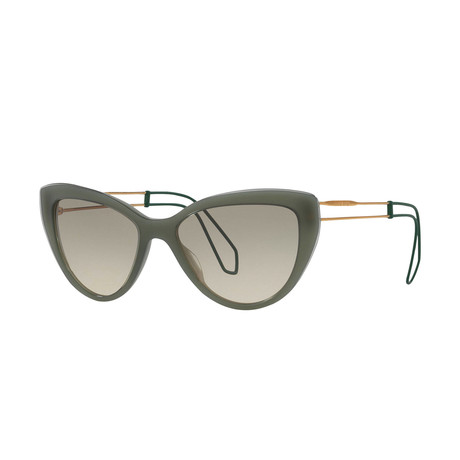 Miu Miu // Women's Sunglasses // Green Gold + Olive Gradient