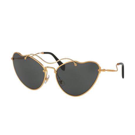 Miu Miu // Women's Sunglasses // Antique Gold + Gray Gradient