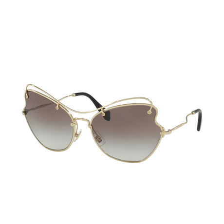 Miu Miu // Women's Sunglasses // Pale Gold + Gray Gradient