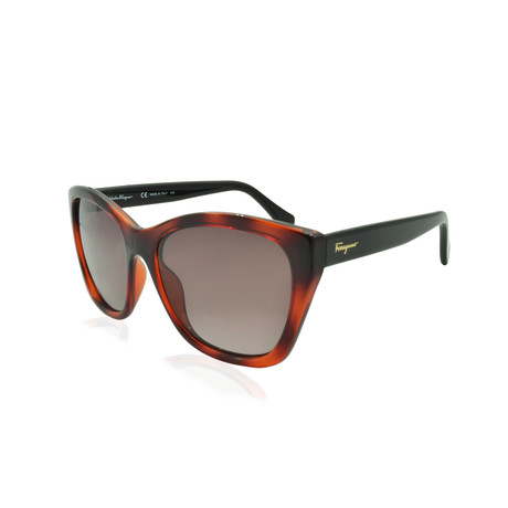 Ferragamo // Women's Sunglasses // Tortoise + Brown