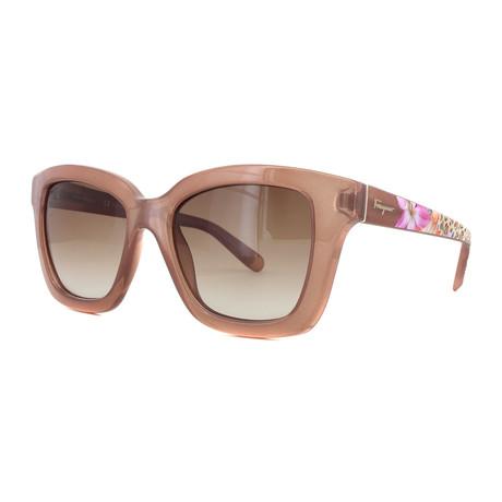 Ferragamo // Women's Sunglasses // Antique Rose + Pink Gradient