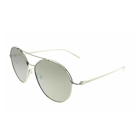 Prada // Women's Sunglasses // Silver + Silver Mirror