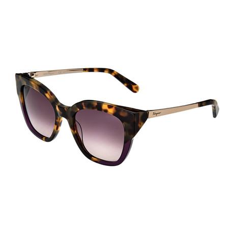 Ferragamo // Women's Sunglasses // Tokyo Havana Purple + Violet Gradient
