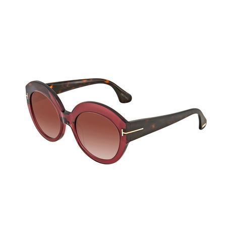 Women's Sunglasses // Burgundy Crystal + Burgundy Gradient