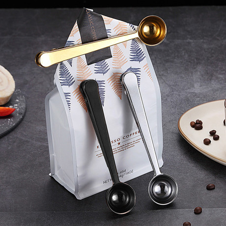 2-In-1 Coffee Spoon + Clip // Set of 3