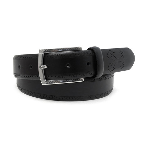 Vincenzo Italian Leather Dress Belt // Black (32)
