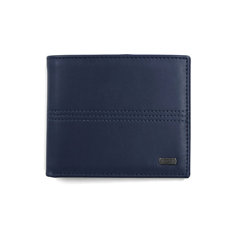 Triple Stitch Bi-Fold Wallet (Gray)