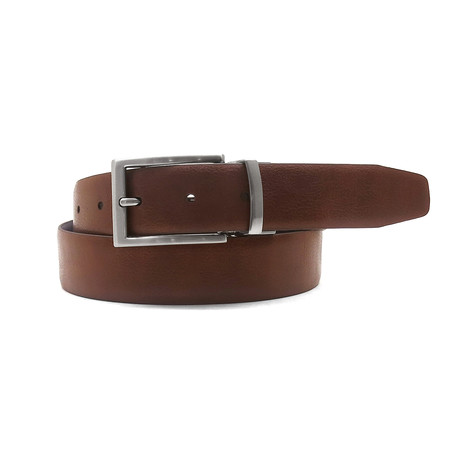 Ivan Reversible Dress Belt // Cognac + Black (32)