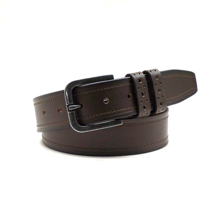 Francisco Casual Belt // Brown (32)