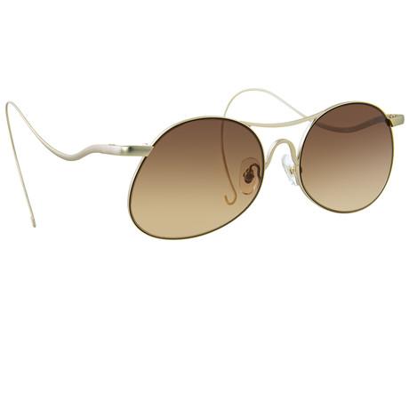 Unisex PL177C2 Sunglasses // Yellow Gold + Light Gold
