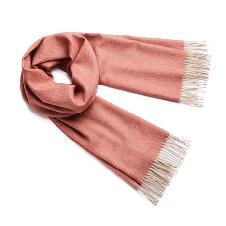 Shawl Exclusive Herringbone // Rusty Orange + Beige